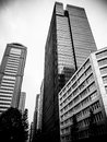 Skyscrapers in tokyo the nihombashi district of japan Stock Image