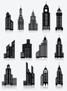 Skyscrapper icons vector illustration of modern buildings Royalty Free Stock Image
