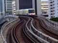 Skytrain move on railway in the city of bangkok thailand Stock Image
