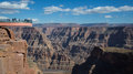 Skywalk grand canyon arizona Arkivfoto