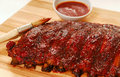 Slab of BBQ spare ribs Royalty Free Stock Photo
