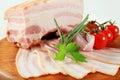Slab of pork belly Royalty Free Stock Photo