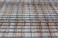 Slab reinforcement close up with details Royalty Free Stock Photography