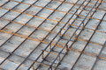 Slab reinforcement close up with details Royalty Free Stock Photo