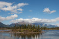 Slana slough in summer near tok alaska with puffy clouds Stock Images