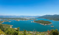 Slansko lake aerial view of near niksic montenegro Stock Image