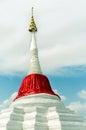 Slant pagoda at ko kret island nonthaburi the tourist attraction in thailand Royalty Free Stock Photos