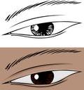 Slanted Eye Close Up Royalty Free Stock Image