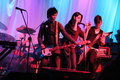 The slants rocking at a fundraiser Royalty Free Stock Images