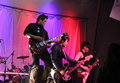 The slants rocking at a fundraiser in portland oregon Royalty Free Stock Photography