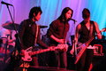 The slants rocking at a fundraiser in portland oregon get dirty for clean air Royalty Free Stock Photography