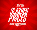 Slashed prices design template Stock Photo