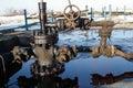 Slate gas or oil equipment