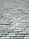 Slate shingles multi colored on a sunny rooftop Stock Images