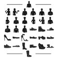 Slates, manufacture, profession and other web icon in black style.suede, textiles, rubber icons in set collection.