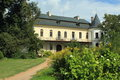 Slatinany chateau the rear view of renaissance situated in eastern bohemia czech republic Royalty Free Stock Photography