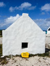 Slave hut huts sheltered those who worked in the saltpans on bonaire dutch caribbean island Stock Photography