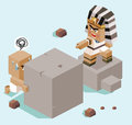 Slavery egypt in illustration Royalty Free Stock Photo