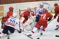 Slavia prague vs medvescak zagreb match Royalty Free Stock Images