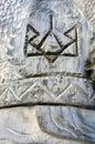 Slavic idol wooden statue of the ukraine Royalty Free Stock Photography