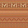 Slavic ornament seamless vector background with ancient Royalty Free Stock Photo