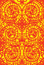 Slavic pattern old in red and yellow Royalty Free Stock Photography