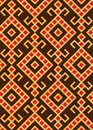 Slavic pattern simple seamless traditional Royalty Free Stock Photo