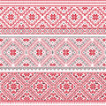 Slavic pattern traditional embroidery vector Royalty Free Stock Images