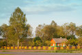 Slavic typical country house northern in belarus Stock Photos