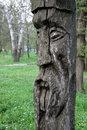 Slavic wooden idol Royalty Free Stock Photography