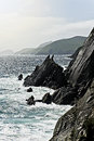 Slea head cliffs of dingle peninsula co kerry ireland Royalty Free Stock Images