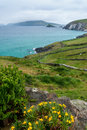 Slea head in dingle peninsula low level clouds over ireland Royalty Free Stock Photography