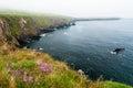 Slea head in dingle peninsula low level clouds over ireland Stock Photos