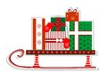 Sled with gifts