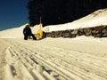 Winter walking in Andermatt, Switzerland