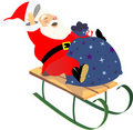 Sledding santa Royalty Free Stock Images