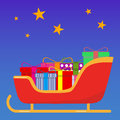 Sledge of Santa Claus with gifts