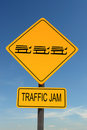 Sledge Traffic Jam sign Royalty Free Stock Images