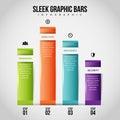 Sleek Graphic Bars Infographic Royalty Free Stock Photo