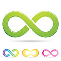 Sleek infinity symbols Royalty Free Stock Images