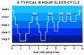 Sleep cycle Royalty Free Stock Photo