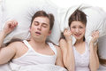 Sleep of husband and wife Royalty Free Stock Photo