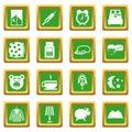 Sleep icons set green