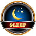 Sleep logo Stock Image