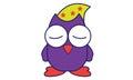 Sleep Owl Royalty Free Stock Photo
