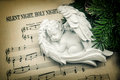 Sleeping angel. Silent Night, Holy Night Royalty Free Stock Photo