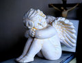 Sleeping angel stone statue of Stock Photo