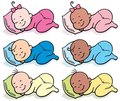 Sleeping Babies Stock Photos