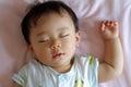 Sleeping baby boy japanese Stock Photo