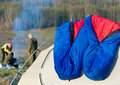 Sleeping bags Stock Photo
